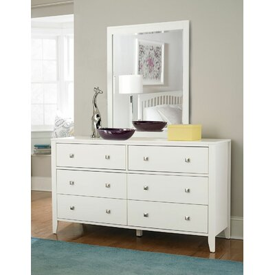 Susan 6 Drawer Dresser with Mirror
