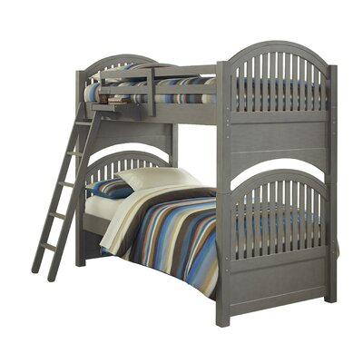 Wendy Standard Bunk Bed Color: Stone, Configuration: Twin over Twin