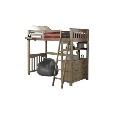 Wilbur Loft Bed Color: Espresso, Size: Twin