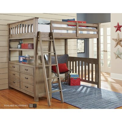 Wilbur Loft Bed Color: Driftwood, Size: Full