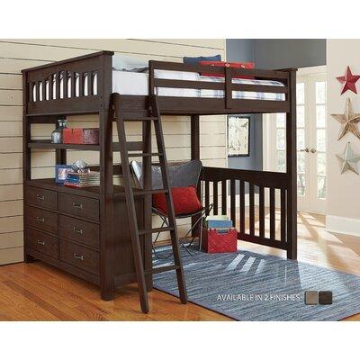 Wilbur Loft Bed Color: Espresso, Size: Full