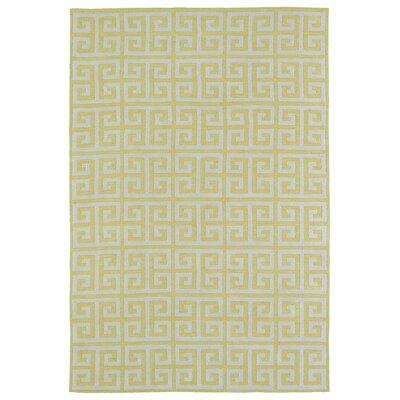 Aaron Yellow Area Rug Rug Size: 5' x 7'