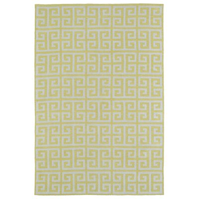 Aaron Yellow Area Rug Rug Size: 8' x 10'