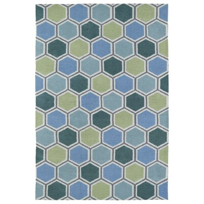 Aaron Blue Area Rug Rug Size: Rectangle 4 x 6