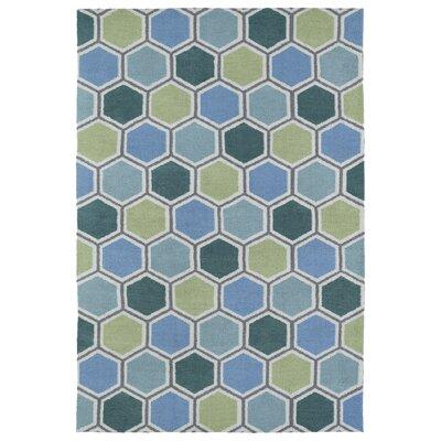 Aaron Blue Area Rug Rug Size: 4 x 6
