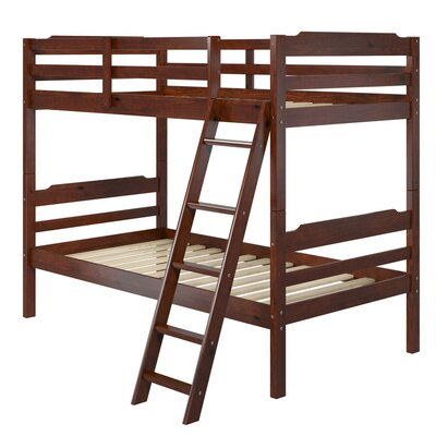 Brian Twin over Twin Bunk Bed Color: Brown