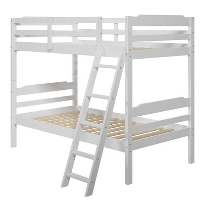 Brian Twin over Twin Bunk Bed Color: White