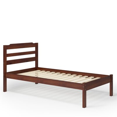 Brian Twin Slat Bed Finish: Brown