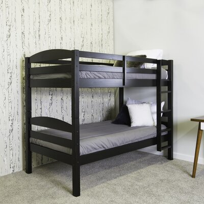Aileen Twin Bunk Bed Finish: Black