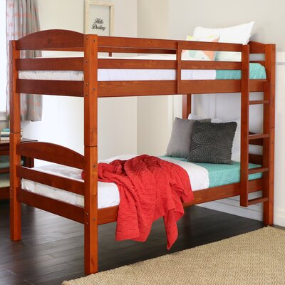 Abby Twin Over Twin Bunk Bed Finish: Cherry