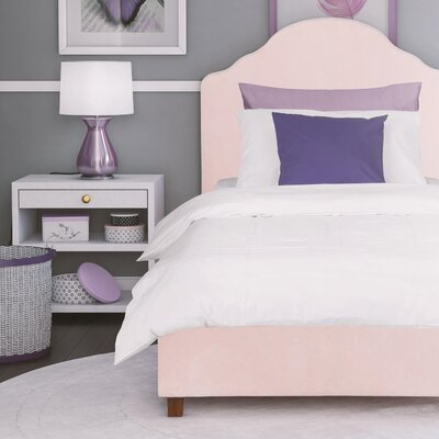 Janae Twin Upholstered Platform Bed Color: Pink
