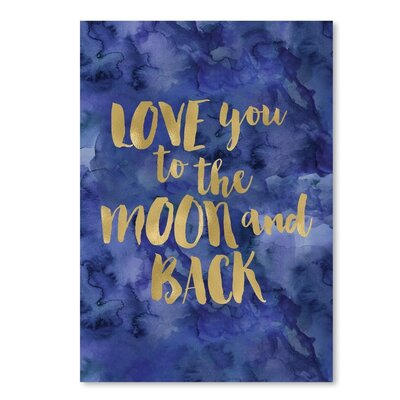 "Love You To Moon Back Paper Print Size: 14"" H x 11"" W VVRO5584 33048911"