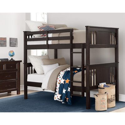 Alimi Twin over Twin Bunk Bed Color: Espresso