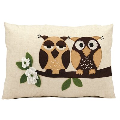 Cici Two Owls Lumbar Pillow