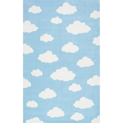 Lily Cloudy Sachiko Hand-Tufted Blue Area Rug Rug Size: Runner 2'6