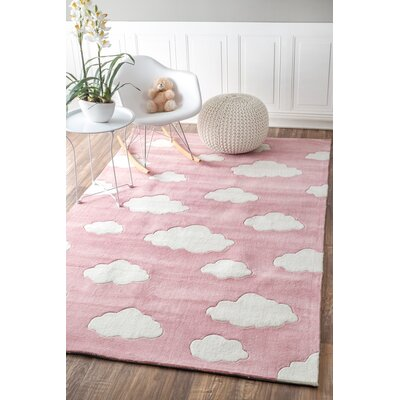 Lily Cloudy Sachiko Hand-Tufted Pink Area Rug Rug Size: Rectangle 6 x 9