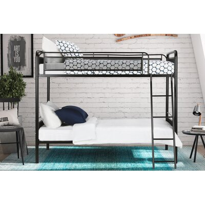 Julian Twin Bunk Bed Finish: Black