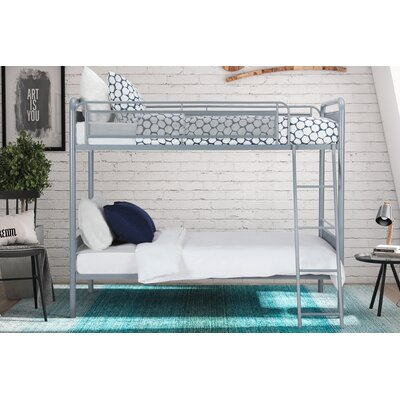 Julian Twin over Twin Bunk Bed Color: Silver