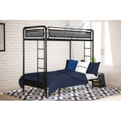 Julian Twin Futon Bunk Bed Finish: Black