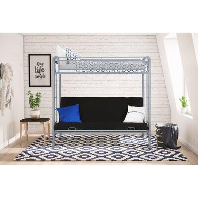 Julian Twin Futon Bunk Bed Finish: Silver