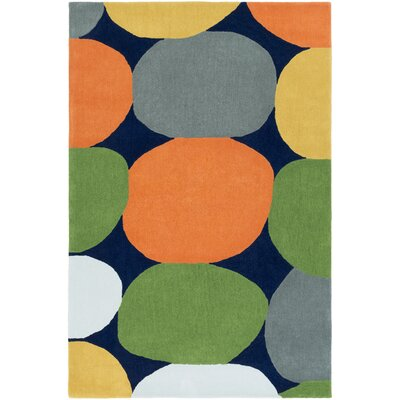 Greenburgh Hand-Tufted Area Rug Rug size: 76 x 96