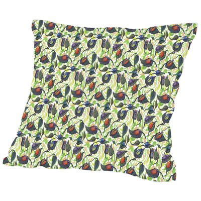 Kylie Bugs&Leafs CaraKozik Throw Pillow Size: 16 H x 16 W x 2 D