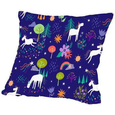 Gabriel Unicorns Throw Pillow Size: 18 H x 18 W x 2 D