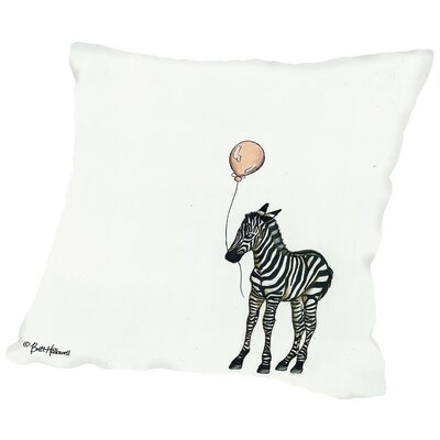 Zebra Throw Pillow Size: 16 H x 16 W x 2 D