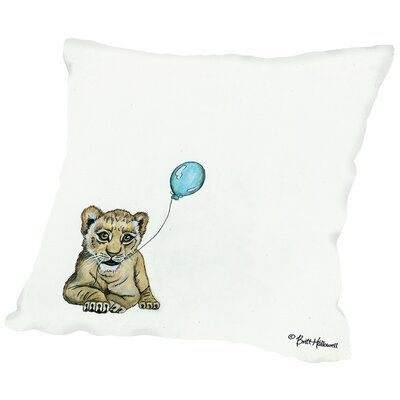Gavin Nursery Lion Throw Pillow Size: 14 H x 14 W x 2 D