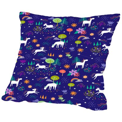 Christmas Unicorn Throw Pillow Size: 14 H x 14 W x 2 D