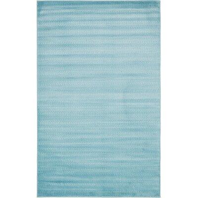 Levi Light Blue Area Rug Rug Size: 5 x 8