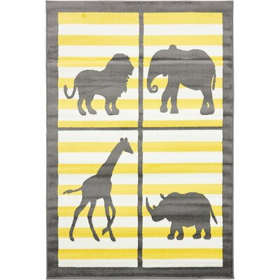 Nicholas Gray Area Rug Rug Size: Rectangle 4 x 6