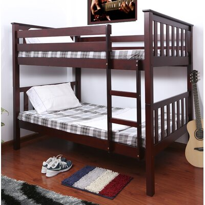 Owen Twin over Twin Bunk Bed Color: Cherry