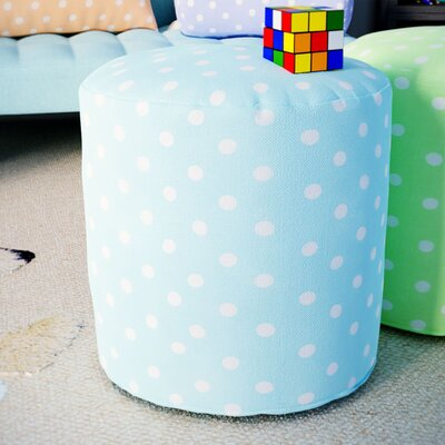 Telly Small Pouf Ottoman Upholstery Color: Aquamarine