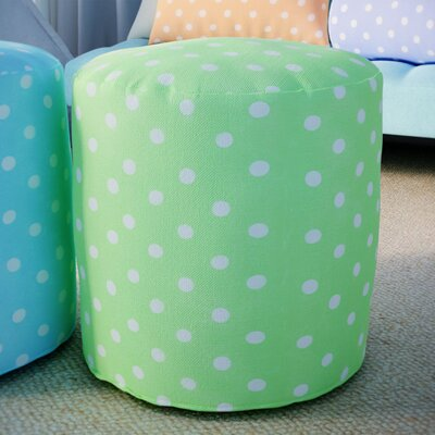 Telly Small Pouf Ottoman Upholstery Color: Lime