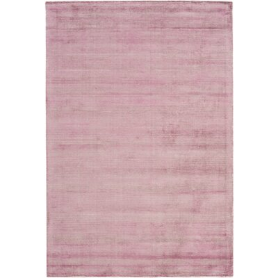 Cora Hand-Loomed Bright Purple/Khaki Area Rug Rug size: 6 x 9
