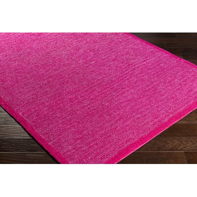 Alfreda Bright Pink/Dark Red Area Rug Rug size: 2 x 3