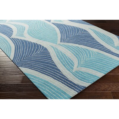 Cleo Hand-Tufted Blue Area Rug Rug Size: Rectangle 5 x 76