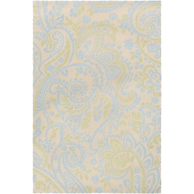 Cleo Hand-Tufted Blue/Green Area Rug Rug Size: Rectangle 76 x 96