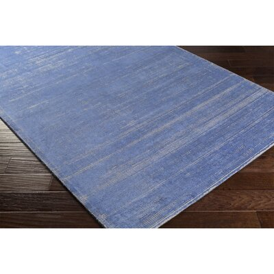 Cora Hand-Loomed Blue/Neutral Area Rug Rug Size: 4 x 6