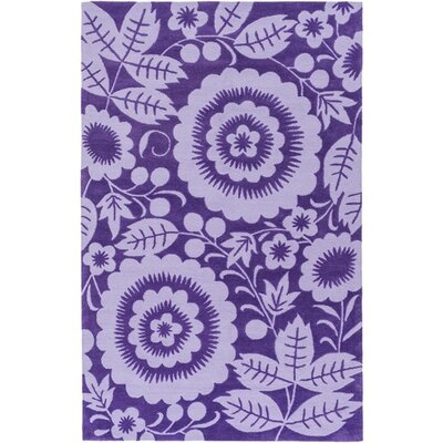 Gypsy Hand-Tufted Purple Area Rug Rug Size: 2 x 3