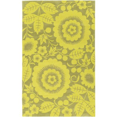 Gypsy Hand-Tufted Green Area Rug Rug Size: 76 x 96