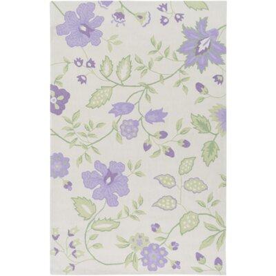 Aline Hand-Tufted Purple Area Rug