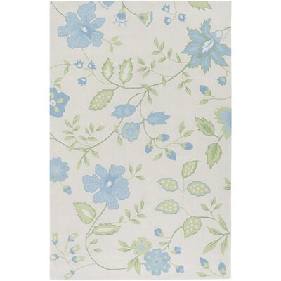Aline Hand-Tufted Blue/Green Area Rug Rug Size: Rectangle 5 x 76