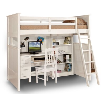 Leann Twin Loft Bed Finish: White