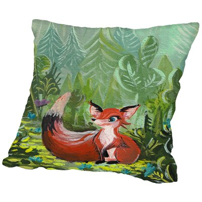 Fox Throw Pillow Size: 14 H x 14 W x 2 D