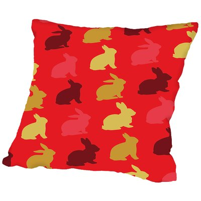 Rabbit Throw Pillow Size: 18 H x 18 W x 2 D