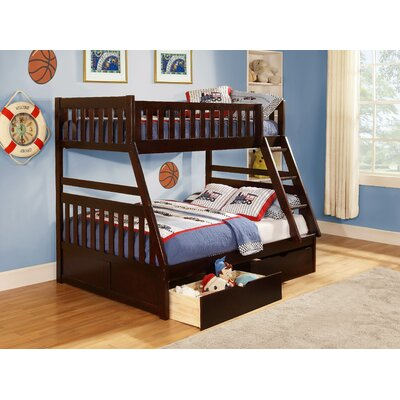 Adela Leonard Twin over Full Bunk Bed with Storage