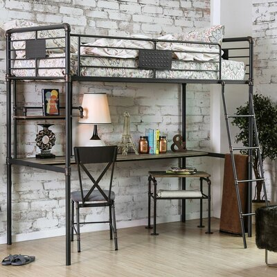 Darwin Twin Bunk Bed with Workstation