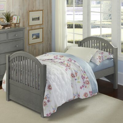 Javin Bed Twin Slat Headboard and Footboard Finish: Stone